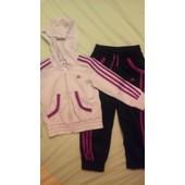 Jogging Running Adidas Polyester 5 Ans Blanc
