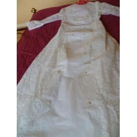 Robe De Mari�e Sur Mesure Dentelle 40 Blanc