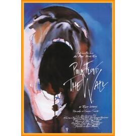 Poster encadré: Pink Floyd - The Wall (91x61 cm), Cadre Plastique, Orange
