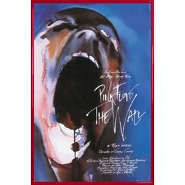 Poster encadré: Pink Floyd - The Wall (91x61 cm), Cadre Plastique, Rouge