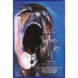 Poster encadré: Pink Floyd - The Wall (91x61 cm), Cadre Plastique, Bleu