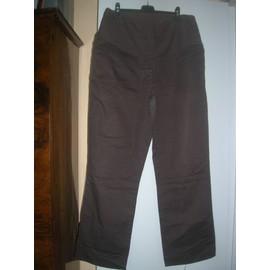 Pantalon H&m Mama Coton Xl Marron