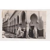 Cp441 Alger Rue De La Marine Mosqu�e Djama El K�bir