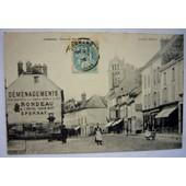 C P A Dormans ( 51 ) Place Du March� D�m�nagements Rondeau Circul�e Oblit�r�e 1905