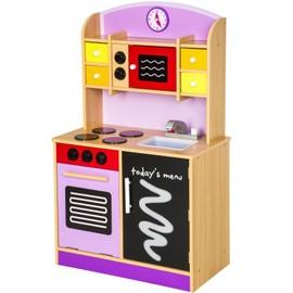 Cuisine Dinette Cuisini�re En Bois Pour Enfant Jeux Jouet Moderne Jeu Du R�le D'imitation Chef Set Kit Orange Violet 0108017