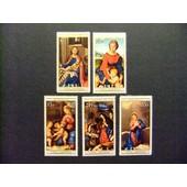 Islas Cook 1975 Navidad No�l Pinturas Tableaux Yvert N� 428 / 432 ** Mnh