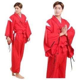 Kimono Inuyasha Japonais Rouge. Mod�le Homme. Taille Unique 36-44 - Black Sugar Cosplay