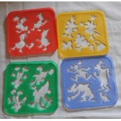 4 Pochoirs Tupperware Disney Vintage 1995. Dingo, Mickey, Minnie Et Donald