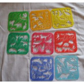 8 Pochoirs Tupperware Tuppertoys Vintage 1994 Les Animaux.