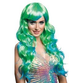 Perruque Femme Bleue Et Verte