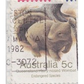 Timbre Australie : Queensland Hairy Nosed Wombat, 5c