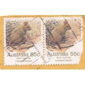 Timbre Australie : Stick Nest Rat, Endangered Species, 55c (2 Timbres )