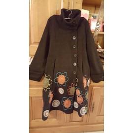 Manteau Desigual Acrylique 42 Noir
