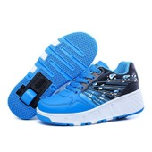 Eleyooner Chaussures � Roulettes Fille Gar�on Heelys Propel Skate Chaussures � Lacets Unisexe Patins � Roulettes Antid�rapante Sneakers Avec Roues Scratch-Semelle
