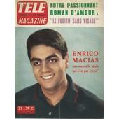 T�l� Magazine N� 448 (23/051964) : Enrico Macias (Une Nouvelle Idole Qui N'est Pas Y�-Y� : Couverture + Article 4 Pages) + 8 Photos De La Collection T�l� Magazine : Nancy Holloway + Nounours Au Bain de collectif