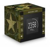 Radio R�veil Cube Avec Projecteur Bigben Rr70 D�cor Army