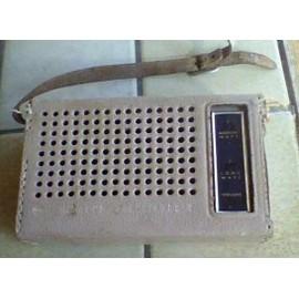 Transistor Radio De Poche Hitachi WH - 638 Années 50/60 N° De Série 20700546 Années 50/60 - Sacoche En Cuir Beige 14X8,5cm ,Pile neuve De 9v Fournie