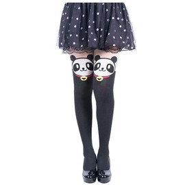Collants T�te De Panda Animaux Kawaii Mignons Lolita Gothique Mode Japonaise �lastiques Exp�dition Rapide. Black Sugar Paris D�guisement Cosplay Manga Anime