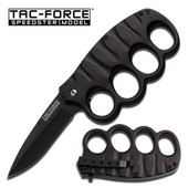 Tac-Force Couteau Poing Americain Tactical Lame Ouverture Assist�e # Tf-511