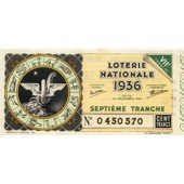 Ancien Billet , Ticket De Loterie 100 Francs 1936 Zodiaque