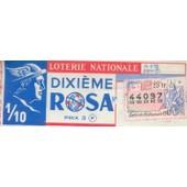 Ancien Billet , Ticket De Loterie Nationale 3 Francs Rosa 1/10eme