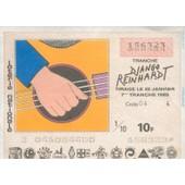 Ancien Billet , Ticket De Loterie Nationale 10 Francs 1985 Django Reinhardt