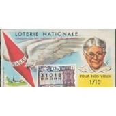 Ancien Billet , Ticket De Loterie Nationale 1/140 Eme 3francs Pour Nos Vieux