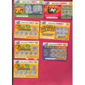 Ancien Billet , Ticket De Loterie Jeux De Grattage Espagne