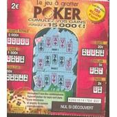 Ancien Billet , Ticket De Loterie Jeux De Grattage Fran�aise Des Jeux : Poker