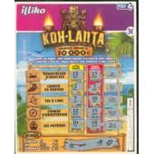 Ancien Billet , Ticket De Loterie Jeu De Grattage Francaise Des Jeux: Koh Lanta