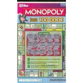 Ancien Billet , Ticket De Loterie Jeu De Grattage Francaise Des Jeux:Monopoly