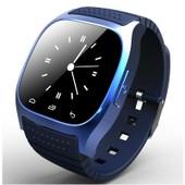 Cbp Puce Montre Bluetooth M26 Avec Affichage Led / Cadran / Sms Reminding / Music Player / Podom�tre Pour T�l�phone Portable Cadeaux(Bleu)