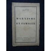 Marxisme Et Famille de ancel a.