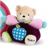 Doudou Peluche Ourson Boule Kaloo Colors Peluche P'tit Ours Pomme 18 Cm Soft Toys