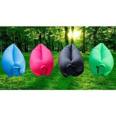 Promo Hangout Sofa Gonflable Canap� Air Popbag Laybag Pour Couchage Plage Camping 2-3 Personnes Vert