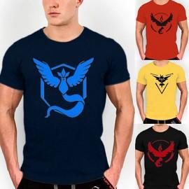 Cravog T-Shirt � Manches Courtes Imprim� Pokemon Tops Unisex Blouse Slim D'�t� Sport Jeu Casual Pr Hommes 4 Couleurs 6 Tailles Au Choix