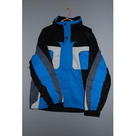 Manteau Ski Luciano Polyester 50 Bleu Et Noir