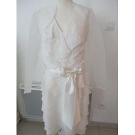 Robe De Mari�e Mariage & Mariages Polyester 42 Ivoire + Bol�ro 44 Voile