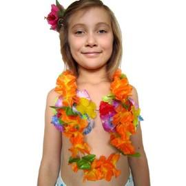 Collier Aloha Orang� � Feuilles Luxe