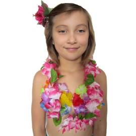 Collier Aloha Fuchsia � Feuilles Luxe