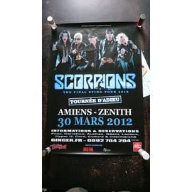 Affiche scorpions - tournée d'adieu - amiens 30 mars 2012