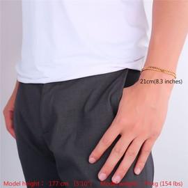 Bracelet Cha�ne-Maille Gourmette Classique-5 Taille � Choisir-4 Couleur Options-Hiphop Bijoux Pour Homme