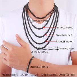 Collier Bracelet Cha�ne-Maille Gourmette Classique-5 Taille � Choisir-4 Couleur Options-Hiphop Bijoux Pour Homme