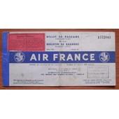 Air France : Ancien Billet De Passage Et Bulletin De Bagages