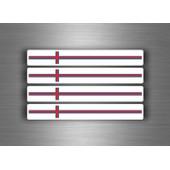 4x Autocollant Sticker Voiture Moto Stripes Drapeau Tuning Iles Feroes