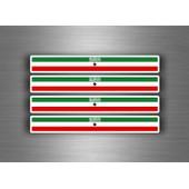 4x Autocollant Sticker Voiture Moto Stripes Drapeau Tuning Somaliland