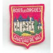 Ecusson En Tissu Bort Les Orgues Chateau De Val
