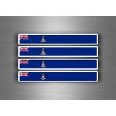 4x Autocollant Sticker Voiture Moto Stripes Drapeau Tuning Iles Caimans