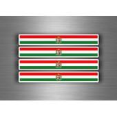 4x Autocollant Sticker Voiture Moto Stripes Drapeau Tuning Hongrie Imperial
