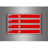 4x Autocollant Sticker Voiture Moto Stripes Drapeau Tuning Bermudes